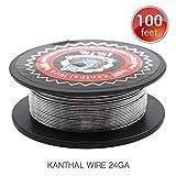 100 Feet Vapethink Kanthal A1 24GA Fil de Chauffage Résistance Coil Round,30 Mètre