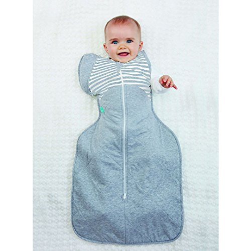 Love to Dream Swaddle Up 50/50 warm grau gestreift – Großes 18,5 Körpers (8,5–11 kg)