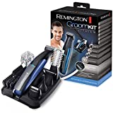 Remington PG6160 GroomKit Lithium Styling Kit for Face and Body Hair 5 Removable Heads Black/Blue