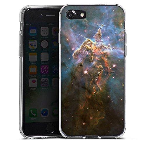 Apple iPhone X Silikon Hülle Case Schutzhülle Mystic Mountain Galaxy Space Silikon Case transparent