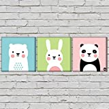 "Nutcase Framed Kids Room Wall Art Decor Hanging Block Non-Fading Digital Painting For Living Room, Bedroom,Desk & Office –3 Frames,- 9""x9""( Screws Included) - Cute Beer"