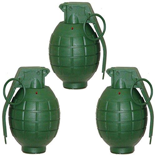 (3 Handgranaten mit Licht und Sound Handgranate für Kostüme Gangster GSG 9 Special Force)