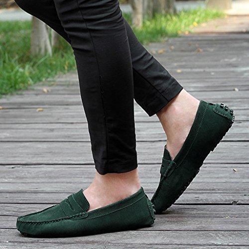 Minitoo ,  Herren Durchgängies Plateau Sandalen mit Keilabsatz Grün