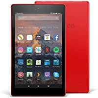 "Fire HD 8 Tablet with Alexa, 8"" HD Display, 32 GB, Punch Red - with Special Offers (Previous Generation - 7th)"