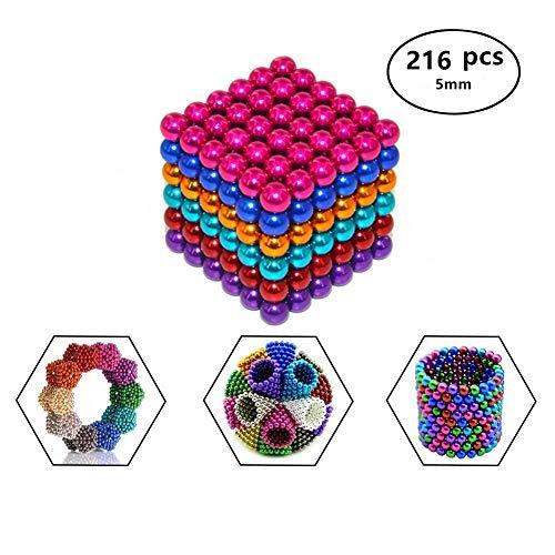 Luckyrao Potente imán Rompecabezas Bola pequeña Bola Creativa mágica Cubo presión Regalo 5mm (6 Colores)