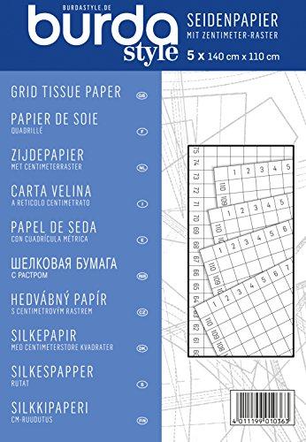 Burda Style Nähzubehör: Seidenpapier mit cm-Raster, [Art.Nr.: 1036] -