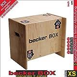 Becker-Sport Germany Becker Box XS, 5 in 1 Plyobox, Weltneuheit, Einfaches Drehen der Box Erhalten Sie 5 Verschiedene Sprunghöhen: 10, 12, 14, 16 und 28 inch (25, 30, 35, 40 und 45 cm)