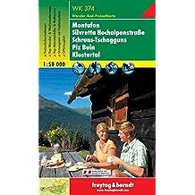 Freytag Berndt Wanderkarten, WK 374, Montafon - Silvretta - Hochalpenstrasse - Schruns - Tschagguns - Piz Buin - Klostertal 1:50.000