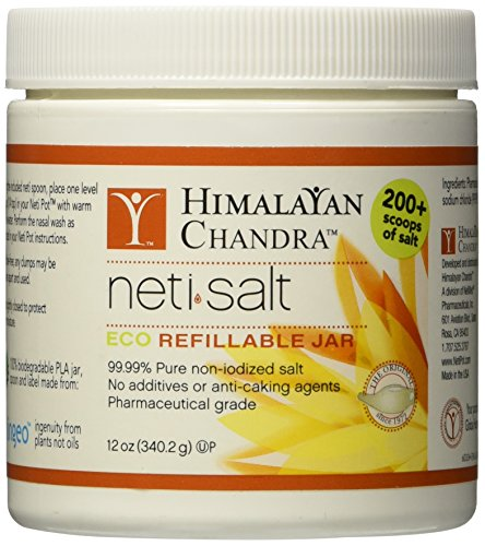 Himalayan Institute Neti Pot Salt Jar, 12 Ounce -