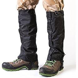 Unisex exterior impermeable Nieve Legging polainas Nieve fijo Senderismo Escalada Caza de nieve Leg Polainas Para Exterior De Pantalones para senderismo, escalada y senderismo de nieve 1par