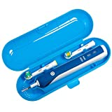 Nincha Portable Replacement Plastic Electric Toothbrush Travel Case for Oral-B Pro Series Blue