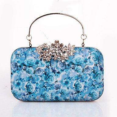 pwne Frauen Abend Tasche Pu Alle Jahreszeiten Hochzeit Event / Party Formale Minaudiere Strass Pattern/Druck Drucken Snapblack Grau Schwarz Weiß Blue