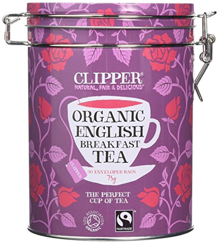 Clipper Organic Tea Gift Caddy Envelopes, 30-Count, English Breakfast