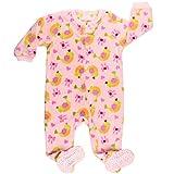 elowel Baby Girls Footed Birds Pajama Sleeper Fleece (Size 6 M-5 Years) 2 Years
