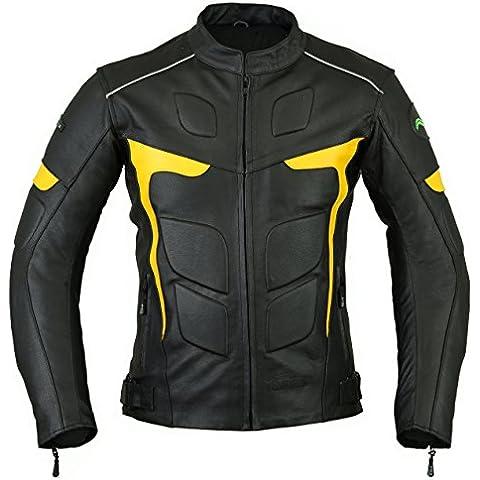 RIDEX de hombre para LJ-2Y motorista fassinas Diseño con chaqueta de cuero diseño con logo de Guinness de motocicleta para
