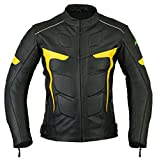 Mens RIDEX LJ-2Y Biker Motorbike Motorcycle Leather Jacket CE Armours