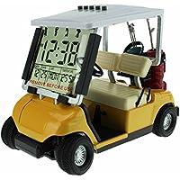 Crestgolf Mini Despertador de Carrito de Golf, Carrito de Golf en Miniatura, Amarillo