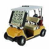 Crestgolf Wecker in Golfcart-Form, Miniatur-Golfwagen, gelb