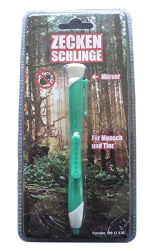 Bonetti Zeckenschlinge in Kugelschreiberform Zecken Schlinge Stift (Grün)