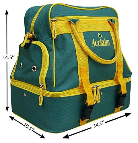 Farne-Nylon Vier Schüssel Level Rasen flach grün kurz Matte Schalen Tasche Bottle Green/Yellow