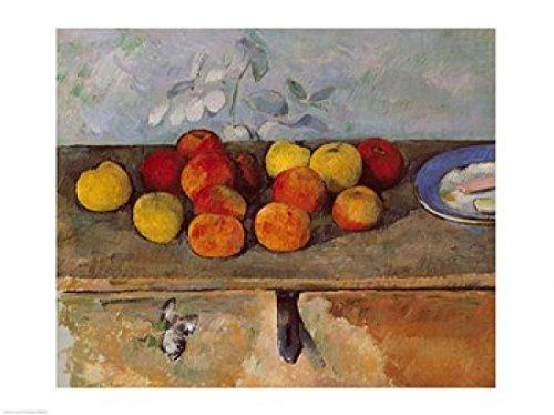Paul Cezanne – Stillleben mit Äpfeln und Biscuits Kunstdruck (60,96 x 45,72 cm) (Mit Cezanne Äpfeln Stillleben)