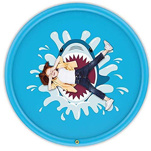 2-3 Kinder Kleinkinder Outdoor Spray Wasser Pad Aufblasbare Sommer Spielzeug 170 cm Hai Gedruckt Streuen Und Splash Mat Wasser Spielen Spielzeug , Weitere Stile ( Farbe : Blau , Größe : 66.93inch )