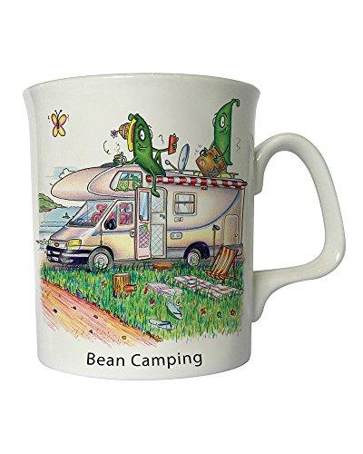 Compost Heap The Notizblock Bean-Camping, handgezeichnetes Motiv Wohnmobil Fine Bone China Mug Bone China Fine China Mug