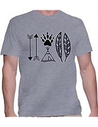 T-shirt para hombre con la impresión del American Native .