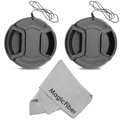 (2-Pack) 52MM Center Pinch Lens Cap for Nikon D3200 D3100 D3000 D5200 D5100 D5000 D90 D80 D60 D40 DSLR Camera with 18-55mm or 55-200mm Lens + MagicFiber Microfiber Lens Cleaning Cloth  available at amazon for Rs.2025