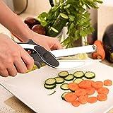 Finiviva Multi Function 2 In 1 Kitchen Vegetable Clever Cutter Stainless Steel Scissor