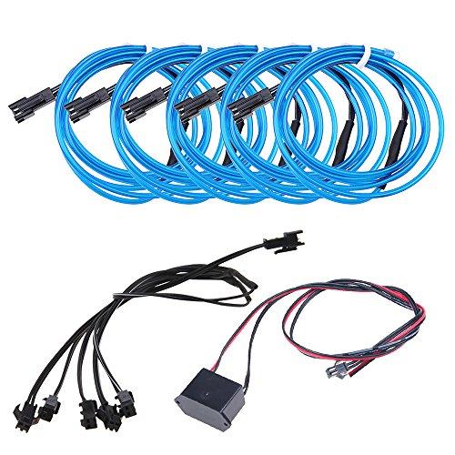 Neon Beleuchtung 1m EL Kabel Wire mit DC 12V Kontroller Flexibel Wasserdicht Innenbeleuchtung für Weihnachten Halloween Partys Kostüm Autos Dekor Geschenk