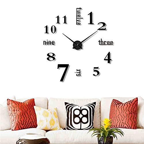 Mein HERZ Reloj Pared DIY sin Marco Pegatina 3D Reloj