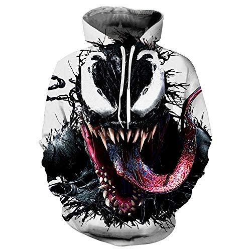 Yuxua Männer und Frauen Unisex 3D gedruckt Hoodie Sweaterhirt Venom S - Mlc Tasche