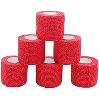 fuluning, 6er Pack, 5,1 cm X 5 Meter Tapeverband, selbsthaftend Tape, Sportbandage stark Sport Tape für Handgelenk... preisvergleich bei billige-tabletten.eu