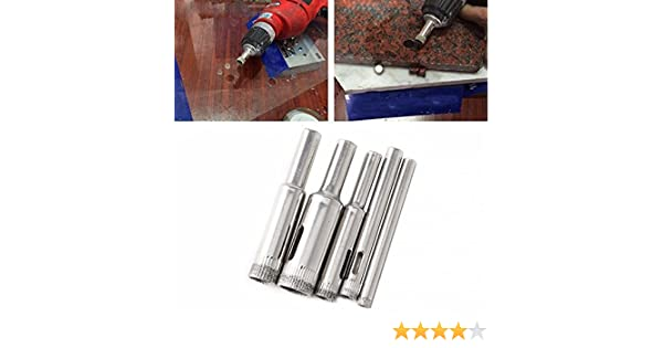 Ootdty New 10pcs 5mm 6mm 8mm 10mm 12mm Diamond Coated Core Drill Bits Hole Saw Glass Tile Ceramic Marble Easy To Use Drill Bits
