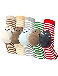 Calcetines De Dibujos De Animales mujeres, calcetines de algodón,calcetines térmicos