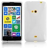 Cadorabo Nokia Lumia 625 Custodia Silicone TPU Disegno X in Semi Transparente Morbida Cover Protettiva Super Sottile con Bordo Protezione Back Case Ultra Slim Gel Bumper Fina Antiurto Guscio