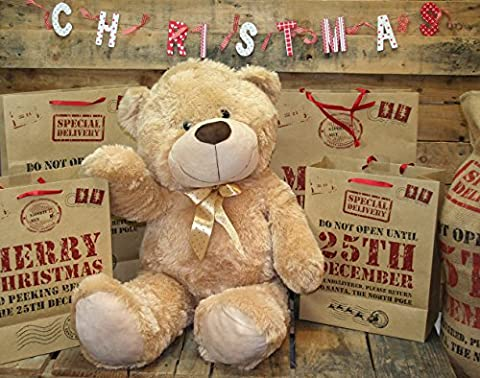 Extra Large 80Cm Super Cuddly Plush Giant Sitting Teddy Bear Soft Toy (Cookie)
