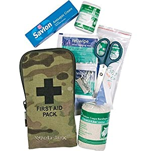 510gJz MVWL. SS300  - Web-Tex Army Tactical Small First Aid Kit Hiking Camping Bushcraft Multicam Camo
