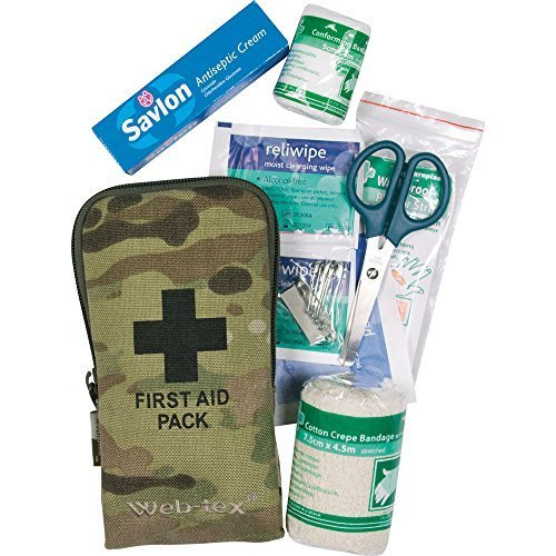 Web-Tex Army Tactical Small First Aid Kit Hiking Camping Bushcraft Multicam Camo