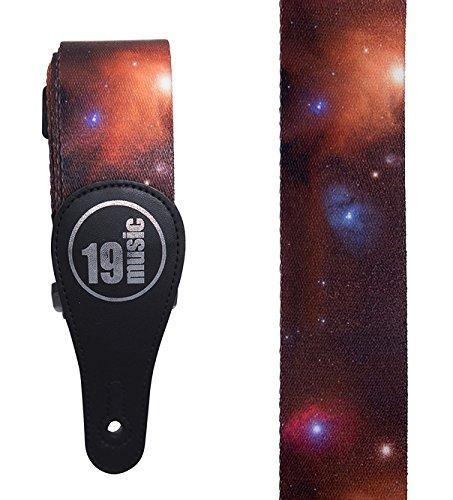 Deep Space Planeten Galaxy Cosmos Akustische Elektrische Verstellbarer Gitarrengurt (Rock Vintage Galaxy)