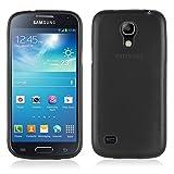 Cadorabo Custodia per Samsung Galaxy S4 Mini in Nero Profondo - Morbida Cover Protettiva Sottile di Silicone TPU con Bordo Protezione - Ultra Slim Case Antiurto Gel Back Bumper Guscio