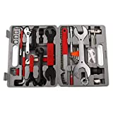 WWSZ Fahrrad Werkzeugkoffer Werkzeug Set, Fahrradwerkzeug für Fahrrad Montagearbeiten und Reparaturen, Fahrrad Werkzeugset mit Tragekoffer und Multitool