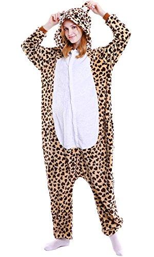 nisex Jumpsuits, Kostüm Tier Onesie Pyjama Nachthemd Schlafanzug Kapuzenpullover Nachtwäsche Cosplay Kigurum Fastnachtskostuem Xmas Halloween (Large (65