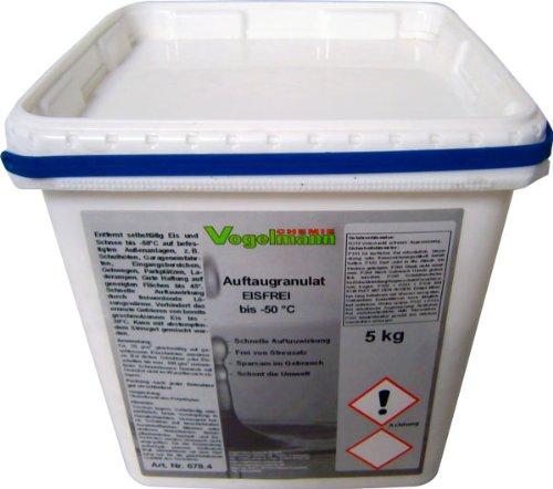 5 kg Auftaugranulat Eisfrei, bis -50 °C, 8 mal schneller als normales Streusalz