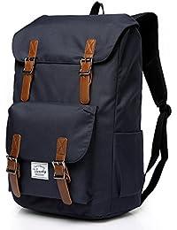 Vaschy Casual Backpack Backpack Men Camping Rucksack Daypack Teen School Backpack Vintage Backpack for 15.6in Laptop