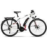 Haibike SDURO Trekking 6.0 500Wh Yamaha Elektro Fahrrad 2018 (56 cm, Weiß/Rot/Anthrazit Herren)