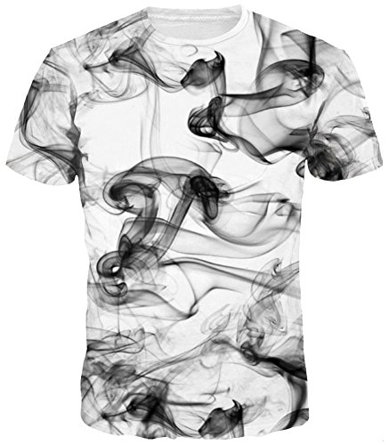 TDOLAH Herren Slim Fit 3D Farbspritzer Druck Muster T-Shirts Kurzarm Top (2XL/3XL, Rauch) (Charmante Herren T-shirt)