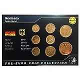 IMPACTO COLECCIONABLES Deutschland, 8 Münzen, Jahr 1949-2001 -24k. Gold-Plated- Blistercard (Münzen für Sammler)