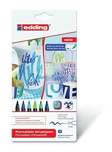 Edding 4200Porzellan Bürste Ben 1–4mm verschiedene Farben erhältlich Cool Colour Set